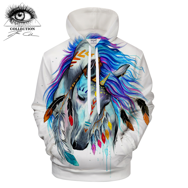 Pferd by Pixie cold Art 3D Animal Hoodies caballo Pritned sudaderas hombres chándales marca Drop Ship Sudadera con capucha ZOOTOP oso
