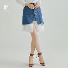FANSILANEN 2019 nueva llegada de moda de verano primavera las mujeres las  faldas de una 168e0b324318