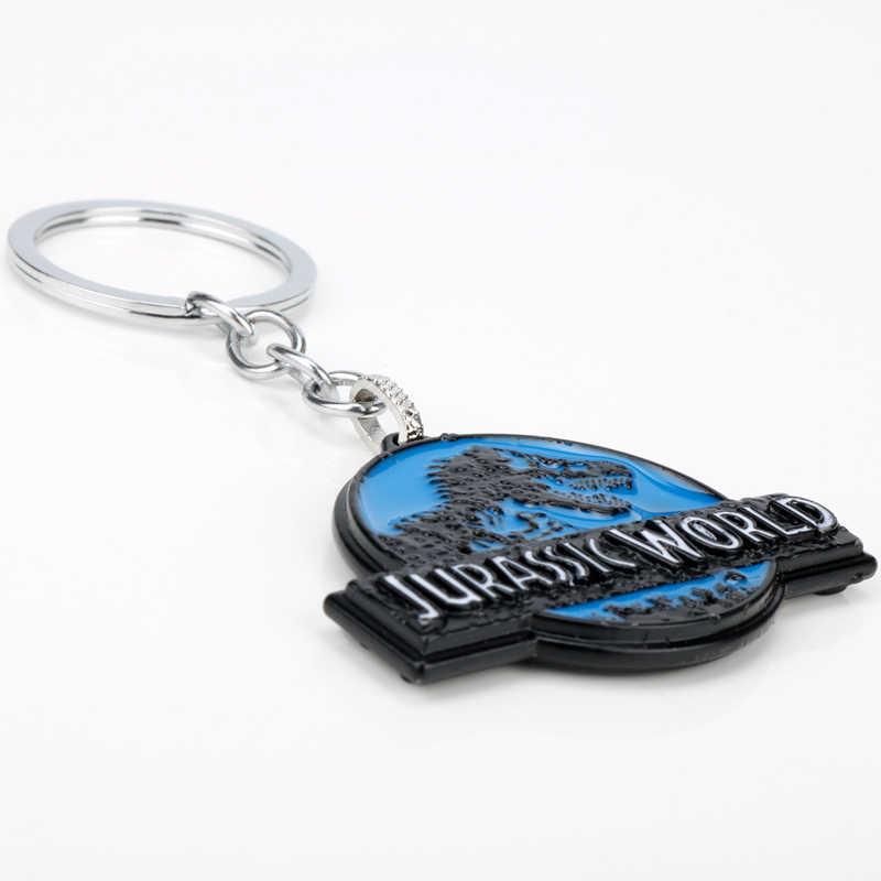 MQCHUN Filme Jurassic Park Dinossauro Mundo Jurássico Pendente De Metal Da Corrente Chave Keychain Chave Anéis Presente Para Homem Mulher-50