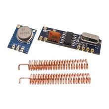 5セット/ロット433 mhz依頼無線モジュールキット(rfトランスミッタstx882 + rf受信srx882) + 10ピース銅スプリングアンテナ