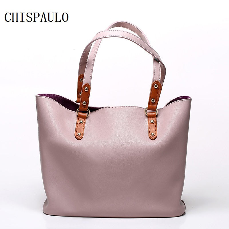 CHISPAULO 2016 Women Genuine Leather Handbags Cowhide Women's Shoulder Bags Bolsa Femininas Luxury Brand Fashion Tassel new T473