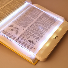 Portable reading transparent packaging eye print book lamp led battery reading lamp for Outdoor camping supplies
