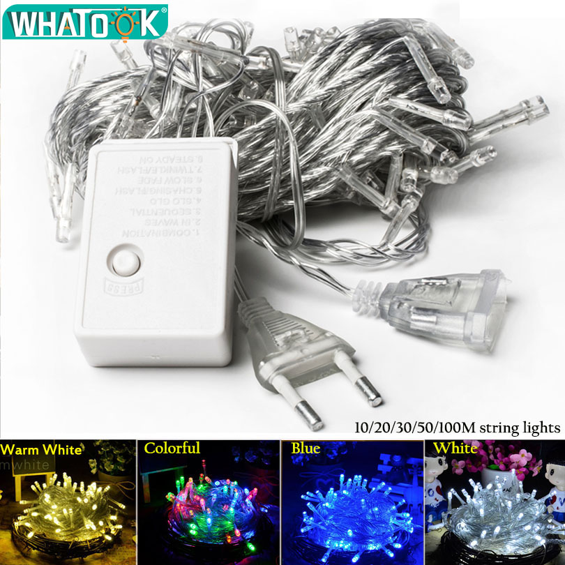 Christmas String Light LED Wire Outdoor Indoor Lights 10M 20M 30M 50M Fairy Garland Light for Home Christmas Tree Wedding Party цена