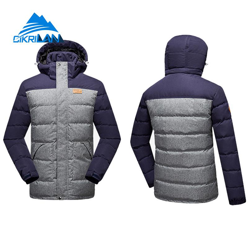 Mens Long Winter Outdoor Windproof Hiking Camping Skiing Snowboarding Snow Down Jacket Men Puffer Duck Down Padded Parka Coat zuru роборыбка клоун желтая robofish