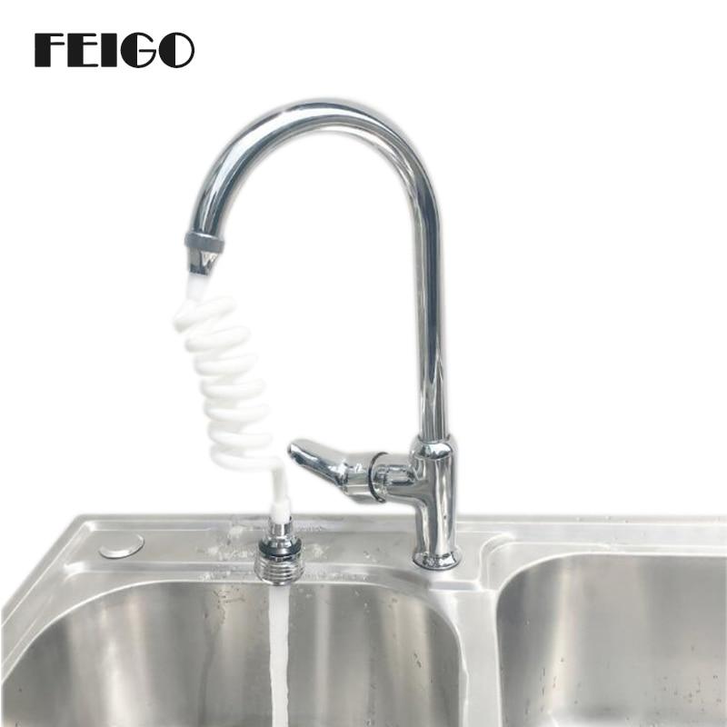 Kitchen Faucet Extension: FEIGO 1Pcs Home Stretchable 50cm Water Filter Telescopic Extension Tube Kitchen Faucet Extender