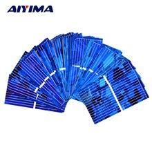 AIYIMA 100 pcs Couleur Cristal Panneau Solaire Cellule Solaire 0.5 V 450mA Module Solaire DIY Sunpower Chargeur Power Bank 52*26mm