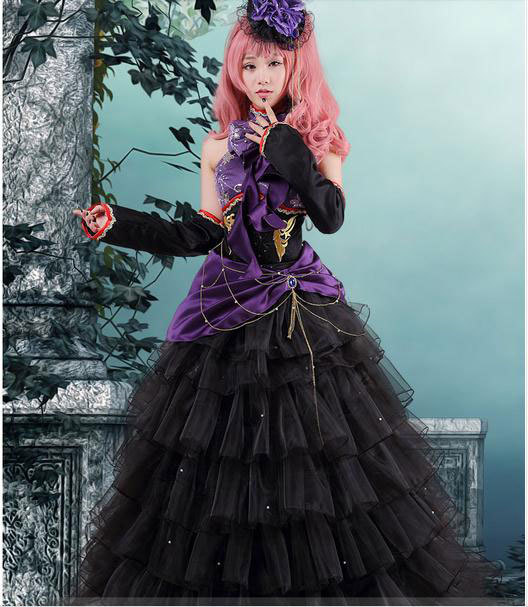 New Anime Vocaloid Luka Formal Dress Cosplay Costume -9087