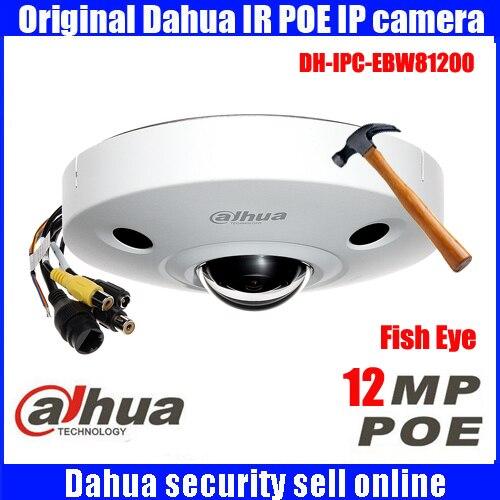 original Dahua DHI-IPC-EBW81200 12MP HD Panorama 360 Degree Fisheye Dome Network Camera Waterproof Security Camera IPC-EBW81200 монитор состава тела omron bf214 hbf 214 ebw