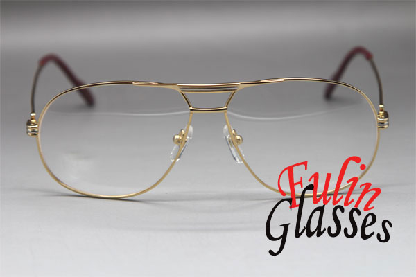 wholesale metal 1038366 larger eyeglasses men 18k gold glasses frame size59 12 140mm in eyewear frames from mens clothing accessories on aliexpresscom