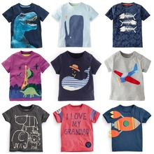 2016 summer baby tops new arrival cute boys clothes short sleeve o-neck t shirt 2-7years boys girls minions cotton short tees