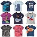 2017 del verano del bebé tops nueva llegada chicos lindos ropa corta secuaces 2-7años niños niñas o-cuello de la camiseta de manga corta de algodón tees