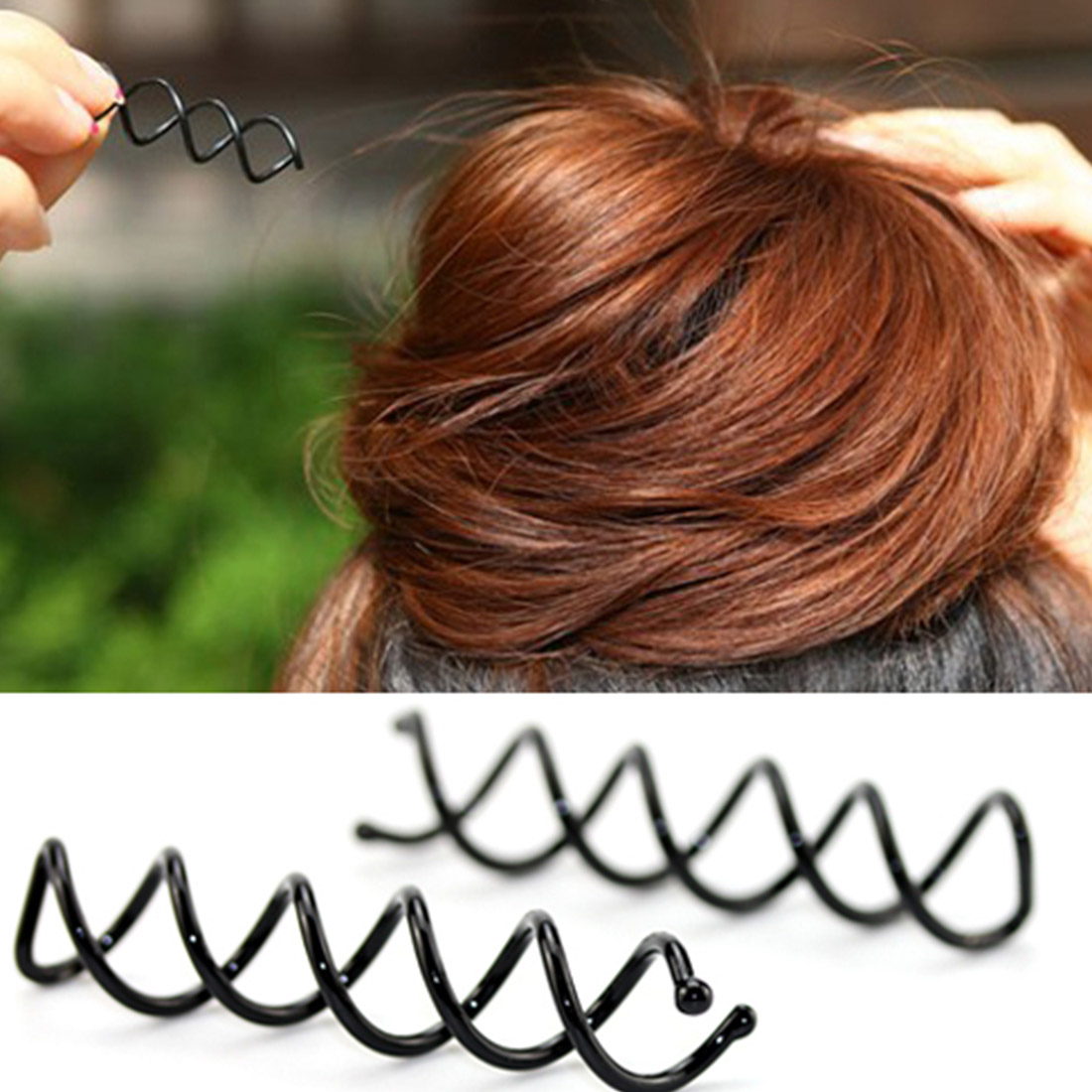 10pcs Spiral Spin Screw Pin Hair Clip Twist Barrette Black New Hairpins Hair Band Accessories Warm And Windproof