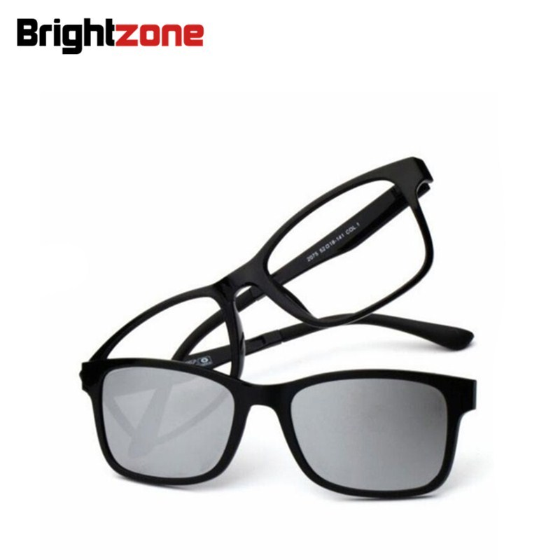 cc0913fd026 Aliexpress.com   Buy Magnet Set Mirror Polarized Sunglasses Clip Ultem  Tungsten Plastic steel Myopia Glasses Frame can Fill Optical Prescription  Lens from ...