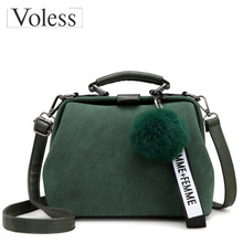 купить Bags For Women 2019 Female Handbags Fashion Hairball Women Messenger Bag Bolsa Feminina Shoulder Bags Ladies Tote Bag Sac A Main онлайн