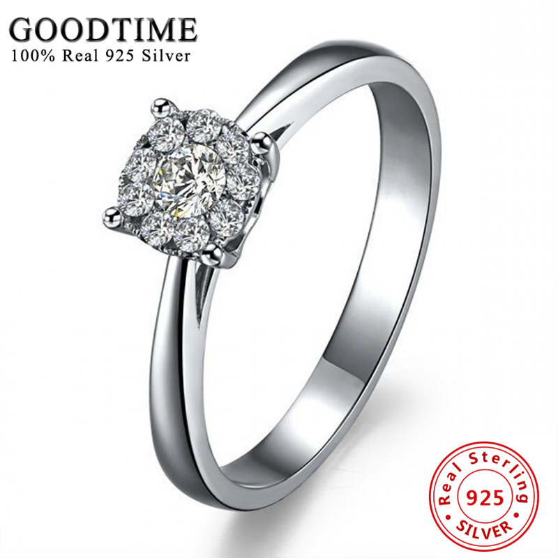 solid 925 sterling silver wedding anniversary ring silver 925 jewelry rings for women top quality created - 25th Wedding Anniversary Rings