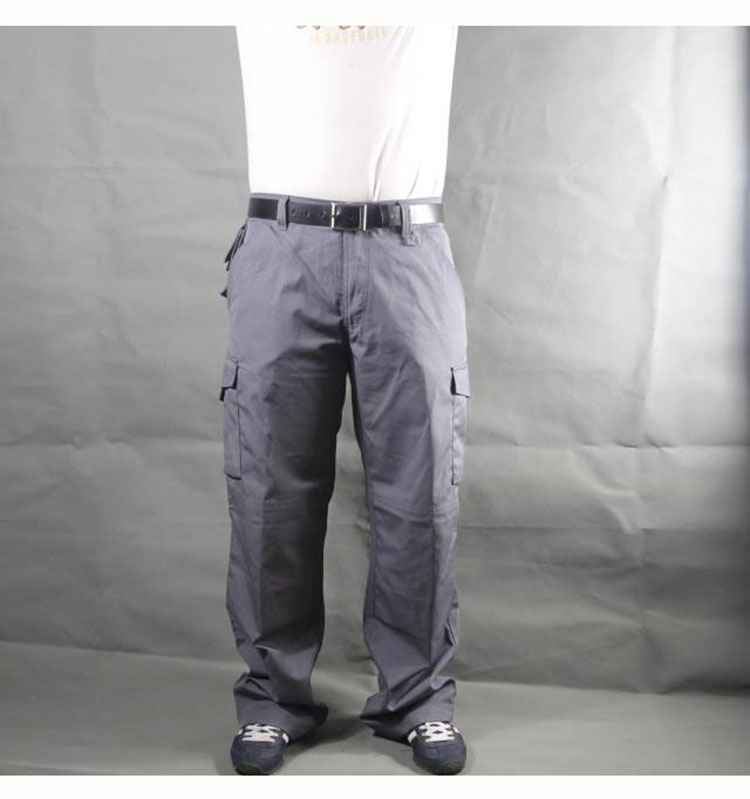 Working pants men multi pockets work cargo pants large size loose style men\'s labor trousers wear-resistance welding repairman (8)
