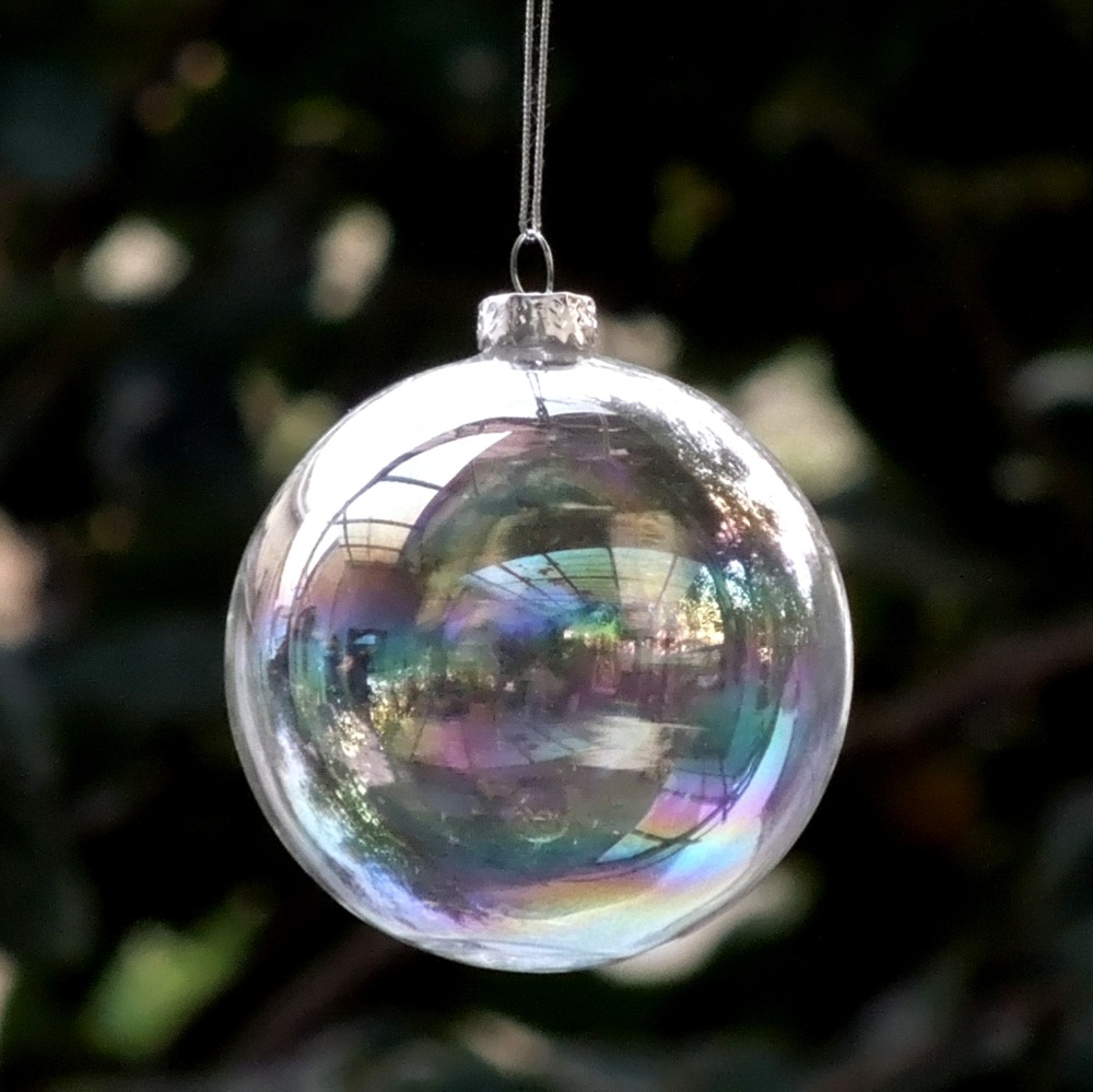 Glass globe ornaments - Diameter 6cm Transparent Glass Christmas Ball Pearl Lustre Glass Globe Home Decoration Different Diameter For Selecting