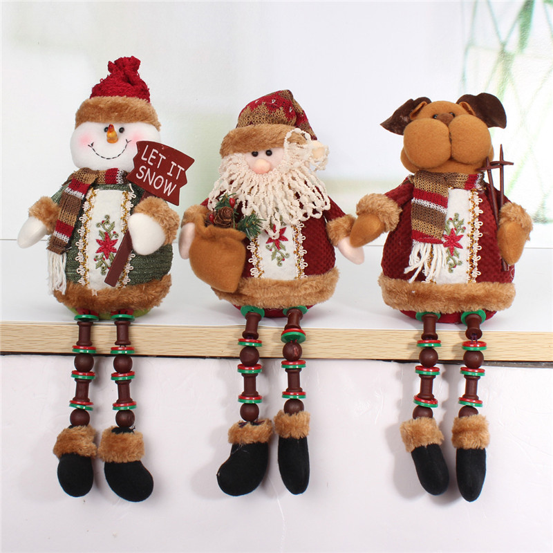 Welding Equipment Able Best Gift Santa Claus Snow Man Elk Doll Christmas Decoration Tree Decent Ornaments Tree Hanging Ornaments Pendant