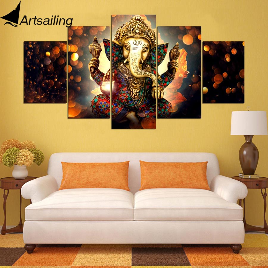 Aliexpress.com : Buy HD print 5 piece canvas painting Elephant Trunk ...