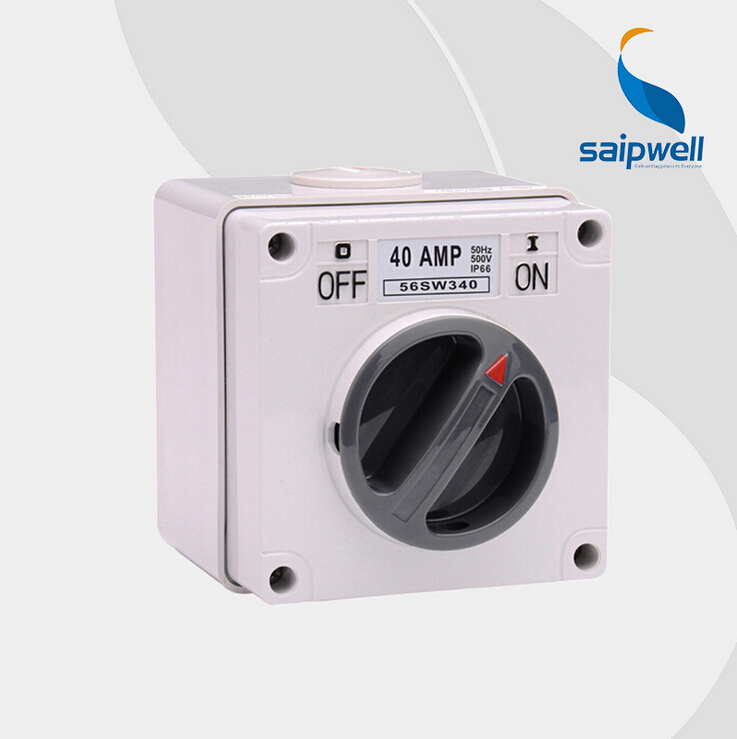 Saipwell Waterproof Rotary Switch IP66 Rotary Potentiometer with on/off switch 40a Rotary Volume Control Switch (SP-56SW340) free shipping new 1pc 2 pole 23 step rotary switch attenuator volume control pot potentiometer diy