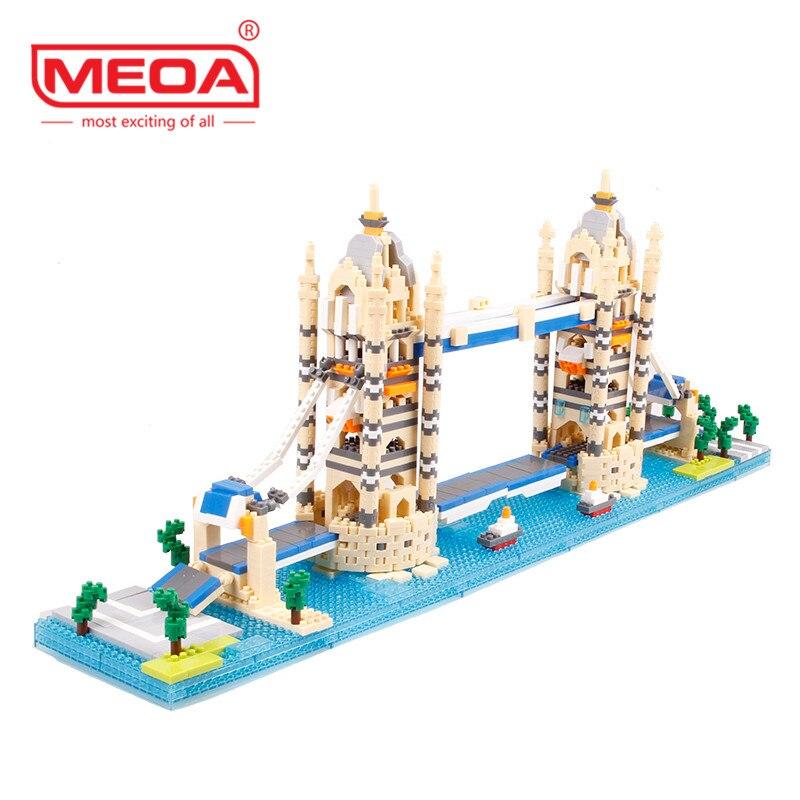 1833 pièces blocs de construction Nano monde Architecture grande-bretagne royaume-uni londres tour pont bricolage 3D modèle Miniature diamant brique jouets