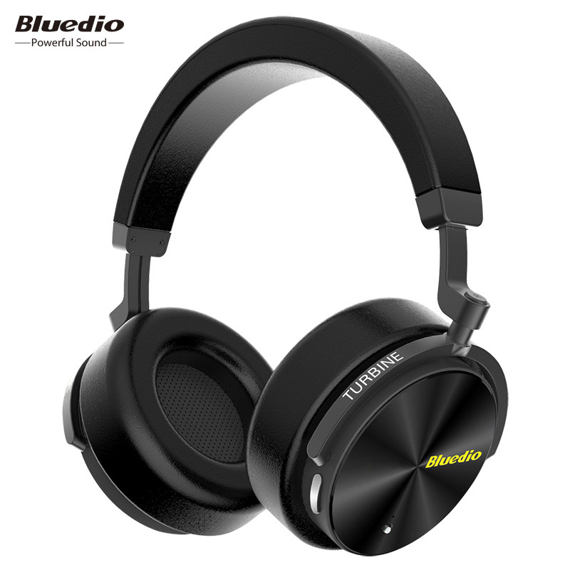 цена Bluedio T5 Active Noise Cancelling Wireless Bluetooth Headphones Portable Headset with microphone for phones and music
