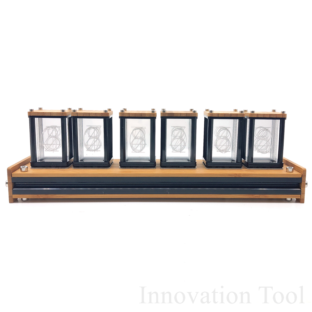 US $134 09 45% OFF Elekstube Programmable 6 Digit RGB Glow Digital Clock  Nixie Tube Clock Kit DIY Electronic Retro Desk Clock 5V Micro USB  Powered-in