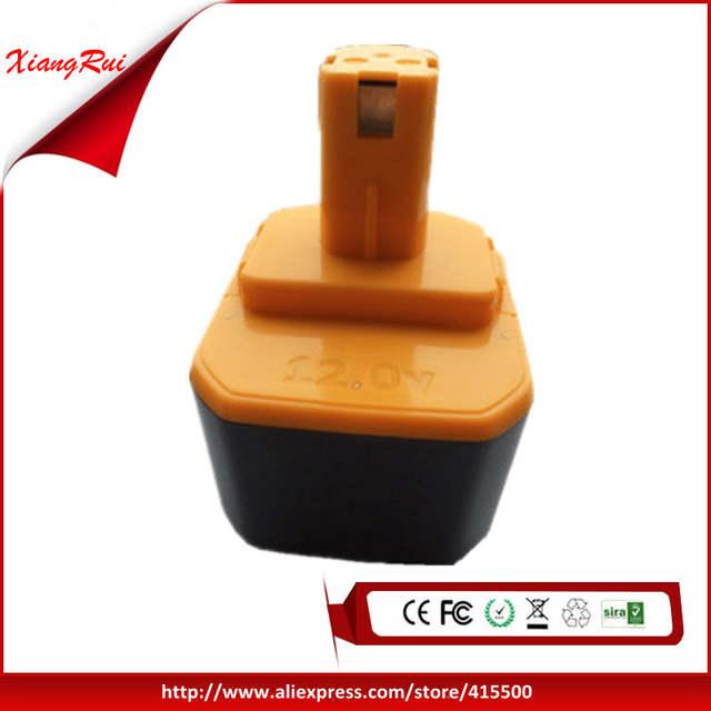 12V 1500mAh Ni-CD Batterie for Ryobi 1400652 1400652B 1400670 B-1230H B-1222H B-1220F2 B-1203F2