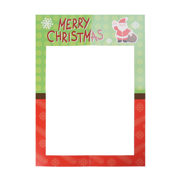 1 Pc Diy Paper Creative Large Photo Booth Frame Decoration Prop For Christmas Pictures Baby