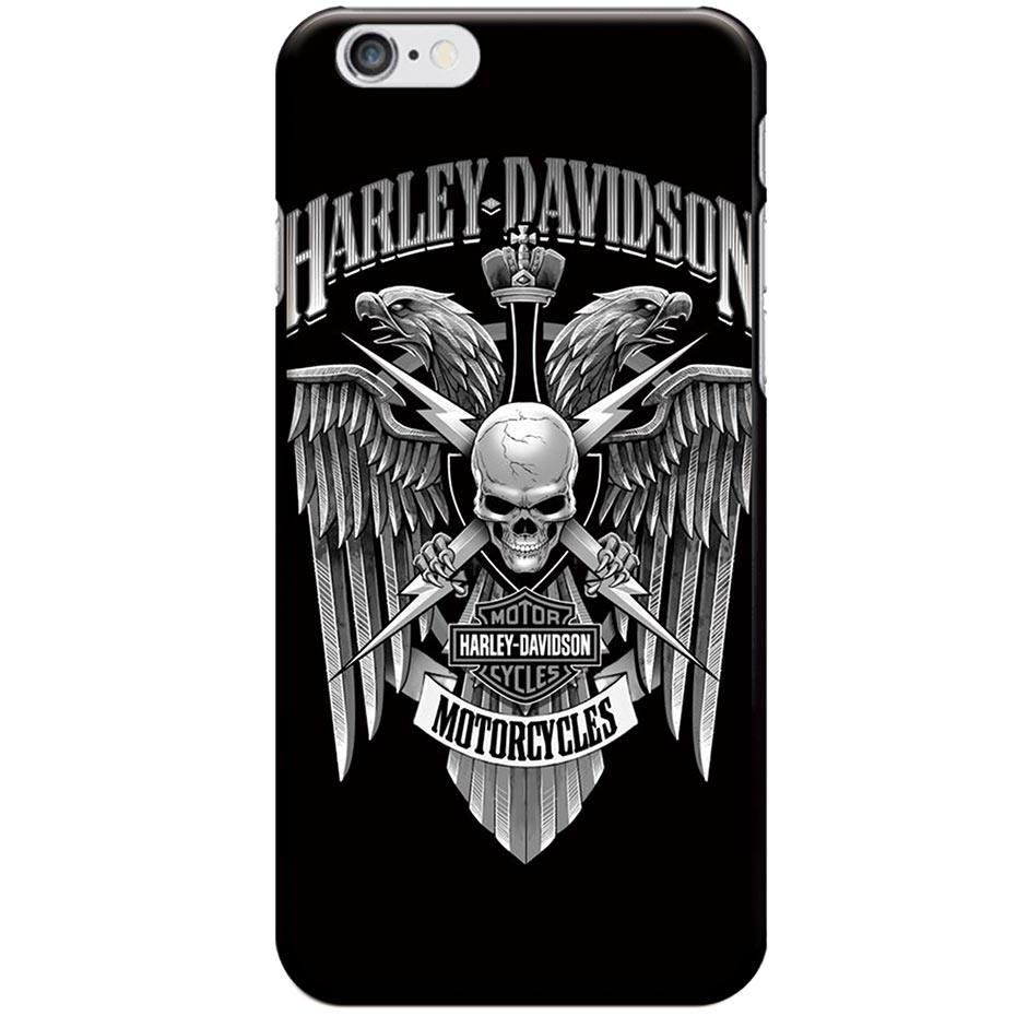 promo code 6b594 a21d5 US $1.78 10% OFF| Harley Phone Case For iPhone 7 8 6 6S Plus Skull Case  Motorcycle Back Cover Soft TPU For iPhone7 8 X Plus Case 5 5S SE Coque-in  ...