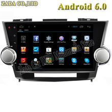 NAVITOPIA 1024*600 10.2inch Quad Core Android 4.4/Android 6.0 Car DVD Radio for Toyota Highlander 2009 2010 2011 2012 2013 2014
