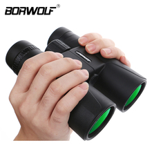 Borwolf 10X42 high magnification HD long range zoom hunting telescope night vision wide angle binoculars