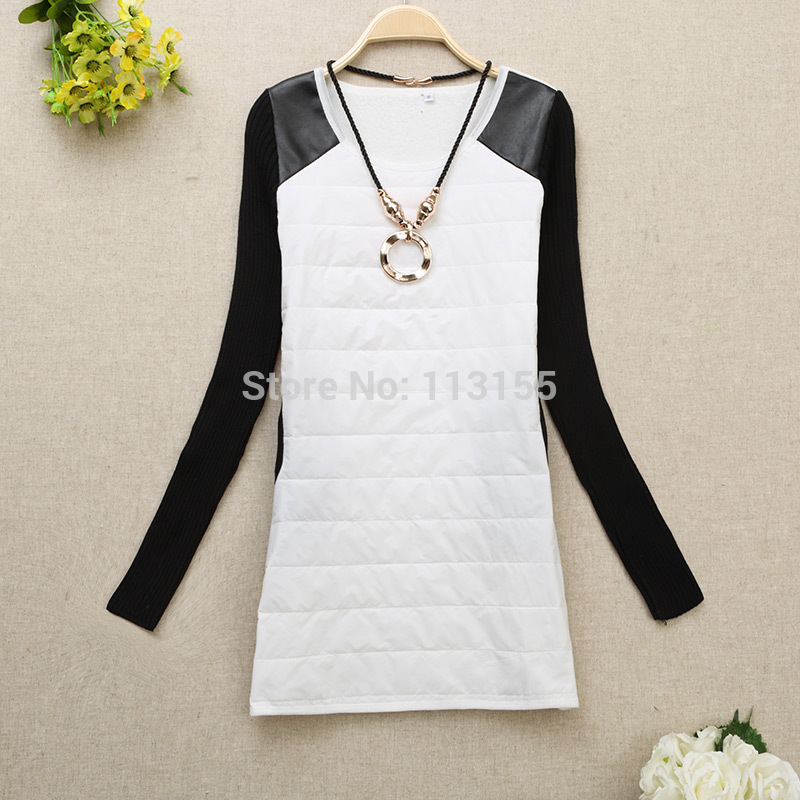 6933e7131 ANASUNMOON جديد الخريف الشتاء المرأة الأساسية قميص طويل الأكمام جولة الرقبة  تي شيرت الحرارية زائد المخملية T-قميص النساء الإناث قمم