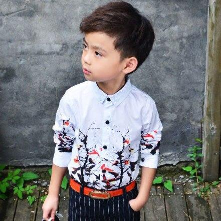 Jaunais 2018 Bērnu filiāles modelis ziedu kleitas krekliem zēniem, - Bērnu apģērbi - Foto 3