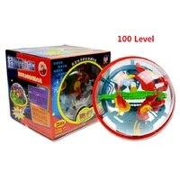 100 ebene 3D Magie Maze Ball perplexus magische intellekt ball pädagogisches spielzeug Marmor Puzzle Spiel perplexus bälle IQ Balance spielzeug