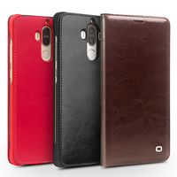 QIALINO Genuine Leather Case for Huawei Ascend Mate9 Handmade Flip Cover for Mate9pro Luxury Ultra Slim for 5.5/5.9 inch Holster