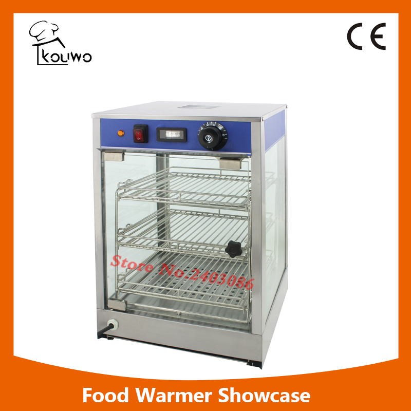 High Quality  Glass Food Warmer Display Showcase For Bakery Egg Tart Display Counter Fried Chicken 1000g 98% fish collagen powder high purity for functional food