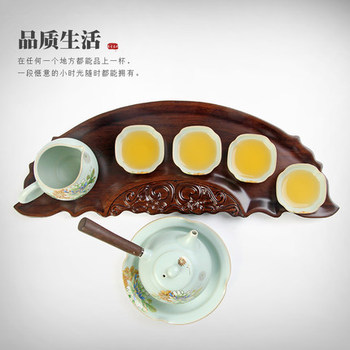 Simple ceramic tea set Ru porcelain Kung Fu tea set storage box set of high-grade tea sets