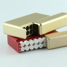 Aluminum Alloy Light Electronic Cigarette Case For Iqos Heets 18-hole Sliding Type Cartridge Storage box for IQOS