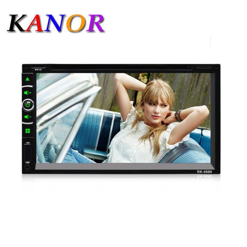 KANOR Autoradio Multimidio-Player Touch-Screen Car-Audio Bluetooth 2-Din Mp5 Usb HD 7-Coche-Recorder