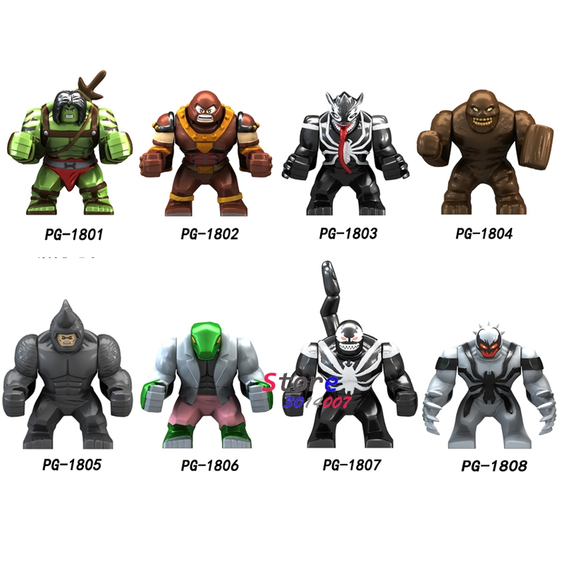 Single Big Size Avengers Infinity War Super Hero Hulk Clayface Venom Wolverine Juggernaut Anti-Venom Figure Building Blocks Toys