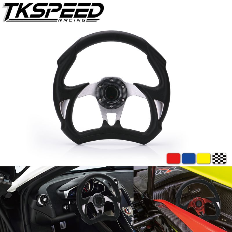 Tuning Car Universal Steering Wheels 310mm PU Leather Racing Sports Auto Car Steering Wheel With Horn Button 12.2 inches Volante