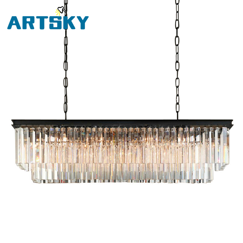 New american chandelier crystal lamp length 80cm dinning room light new american chandelier crystal lamp length 80cm dinning room light fixtures led light in chandeliers from lights lighting on aliexpress alibaba mozeypictures Images