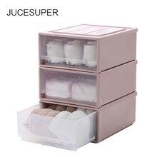 Jucesuper пластиковый ящик для хранения нижнего белья коробка для макияжа отделочные носки лифчик многоцветная коробка для отделки