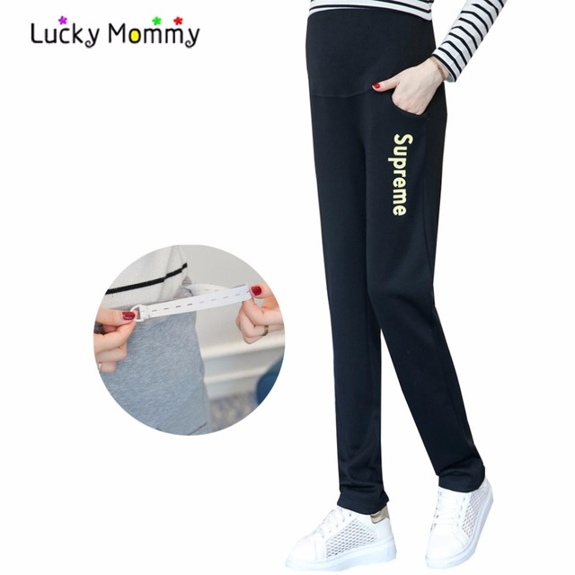 Autumn New Maternity Pants for Pregnant Women Plus Size Pregnancy Trousers High Waist Belly Care Maternity Clothes Clothing