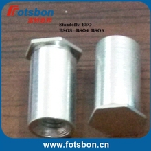 BSOA-M4-14  Blind Hole Standoffs,aluminum6061, nature, in stock, PEM standard ,made in china