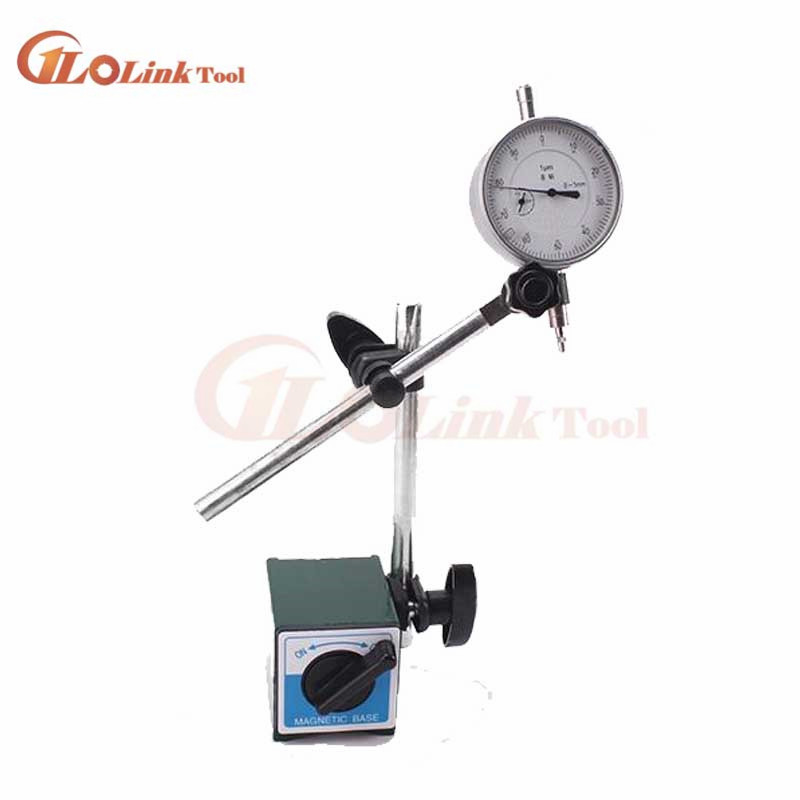 Durable Magnetic Base Holder With Double Adjustable Pole For Dial Indicator Test Gauge  0-10mm With Magnetic Base