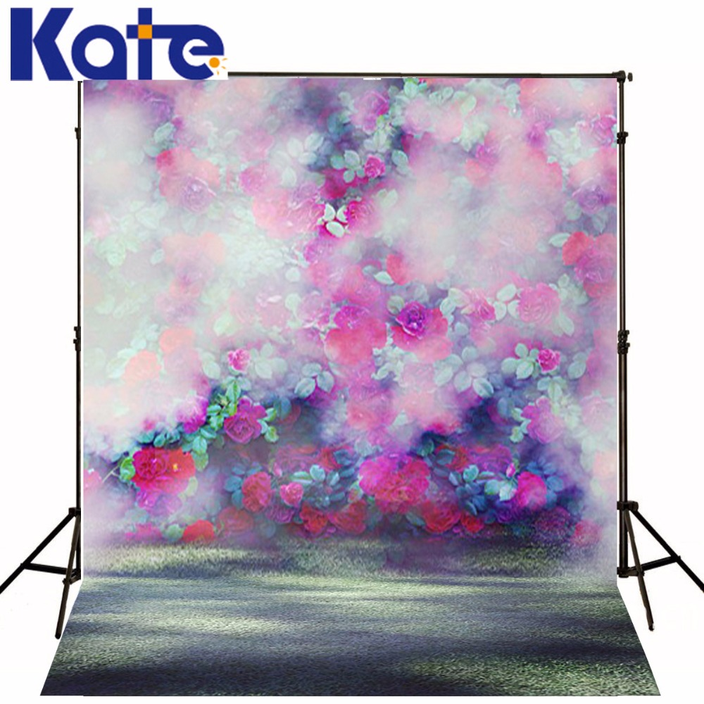 KATE Photo Background Floral Backdrop Wedding Backdrops Scenic Photography Backdrops Bokeh Background for Photo Studio free scenic spring photo backdrop 1875 5 10ft vinyl photography fondos fotografia photo studio wedding background backdrop