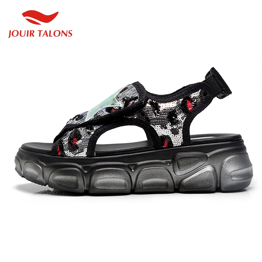 fashion large size 35-42 ladies sneakers leisure bling flat platforn shoes woman casual comfortable summer sandals 2019fashion large size 35-42 ladies sneakers leisure bling flat platforn shoes woman casual comfortable summer sandals 2019