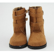 Brown Boots Fit 18 American Girl Doll Winter Shoes Faux Suede American Girl Doll Accessories For